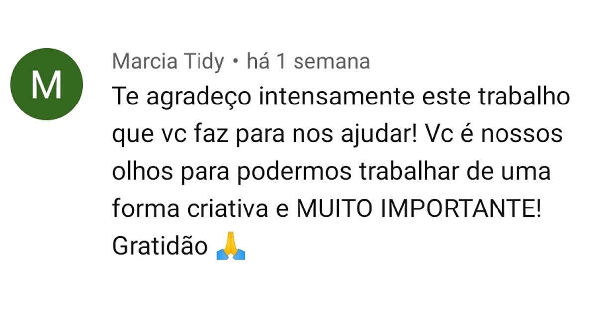 Depoimento Marcia Tidy